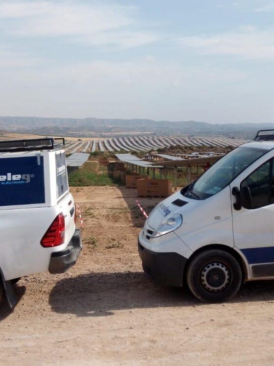 Moneleg participa en las obras del mayor parque solar de Europa - Moneleg